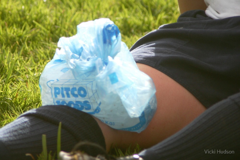 Iced Knee by Vicki Hudson