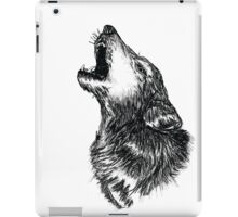 Wolf Sketch iPad Case/Skin
