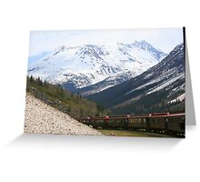 Train in the Alaskan Mountains ** Greeting Card