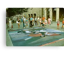 Sidewalk Art. Canvas Print