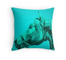 The Turquoise Horse Throw Pillow