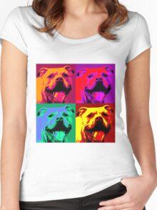 Pit Bull Pop Art Women's Fitted Scoop T-Shirt