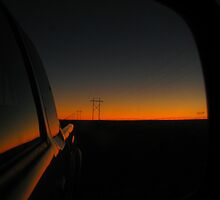 Mirror sunset by thsee
