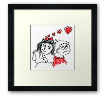 Kids in Love 1 Framed Print