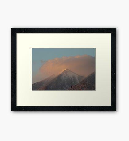 Sunset Snowstorm Framed Print