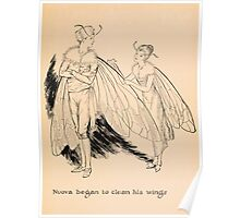 Nuova or The New Bee by Venon L Kellogg art Milo Winter 1920 0137 Clean his Wings Poster