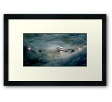 Storm in the clouds Framed Print