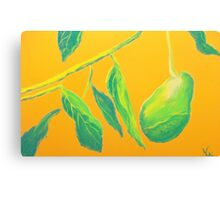 Avocado on the Side (pastel) Canvas Print