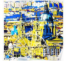 Budapest: Basilica and the Eye - in colour  Poster