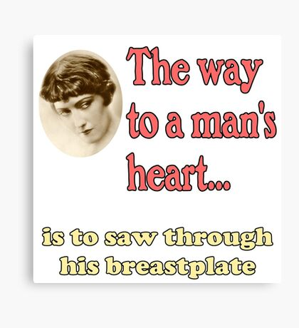 The Way to a Man's Heart Canvas Print