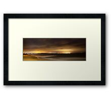 NYE Cronulla Panorama Framed Print