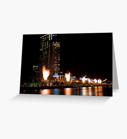 Crown Casino Flames, Melbourne Greeting Card