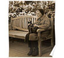 Reading In The Arboretum Poster