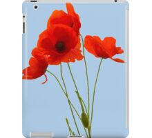 Delicate Red Poppies Vector iPad Case/Skin