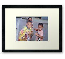 Luang Nam Tha Boys Framed Print