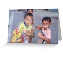 Luang Nam Tha Boys Greeting Card