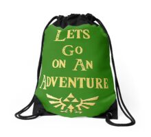Let's Go On An Adventure Drawstring Bag