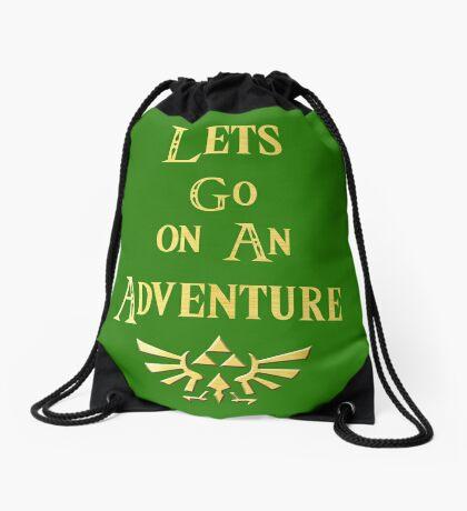 Let's Go On An Adventure Drawstring Bag