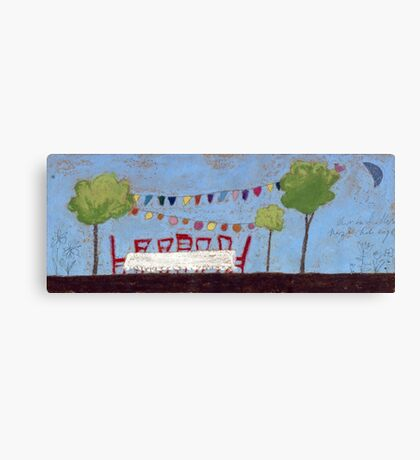 The garden party Canvas Print