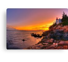 Bass Harbor Sunset Canvas Print