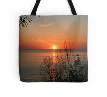 sunset over lake Huron Tote Bag