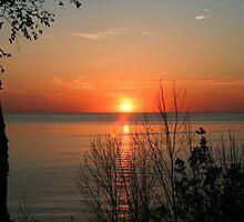 sunset over lake Huron by Jason Dymock Photography