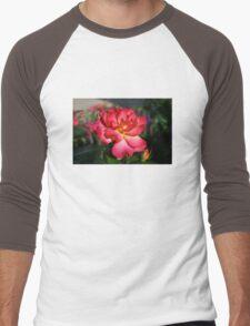 Beautiful Pink and Yellow Rose Men's Baseball ¾ T-Shirt