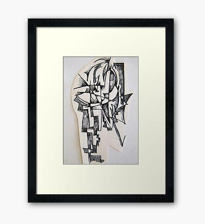 Sculpture drawing Framed Print