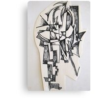 Sculpture drawing Canvas Print