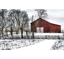 Broadside of a Red Barn Photographic Print