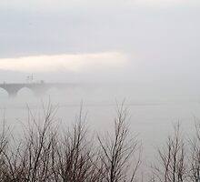 Rockville Bridge As Fog Lifting, Harrisburg, PA by Corkle