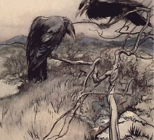Some British Ballads by Sangorski and Sutcliffe art Arthur Rackham 1919 0080 Twa Corbies by wetdryvac