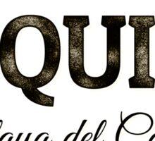 Tequila Vintage Typography Badge Sticker