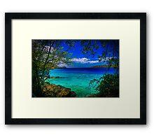 Coki Beach St Thomas, USVI Framed Print