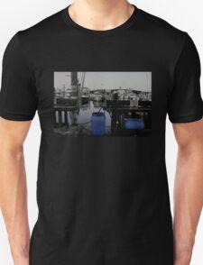 Blue Barrels at the Marina T-Shirt