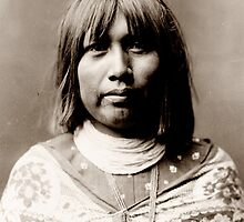 Native American Portrait: O Che Che - Mohave Woman by Chunga