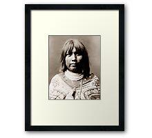 Native American Portrait: O Che Che - Mohave Woman Framed Print