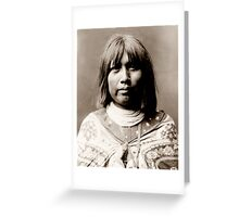 Native American Portrait: O Che Che - Mohave Woman Greeting Card
