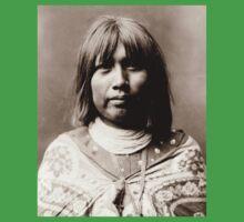 Native American Portrait: O Che Che - Mohave Woman Kids Tee
