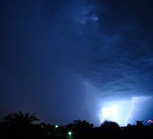 Lightning Over Hobart by Greg Reynolds