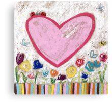 A Spring Heart Canvas Print