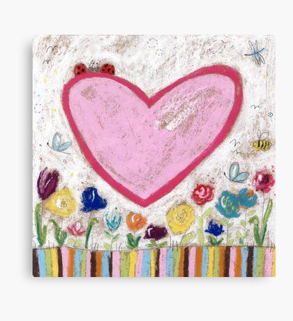 A Spring Heart Canvas Print