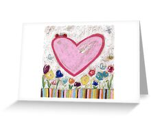 A Spring Heart Greeting Card