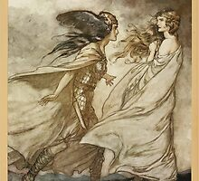 Siegfried & The Twilight of the Gods by Richard Wagner art Arthur Rackham 1911 0227 The Ring Upon Thy Hand, For Wotan Fling It Away by wetdryvac