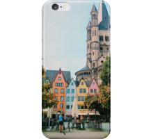 Colorful houses in Cologne iPhone Case/Skin