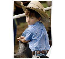 Li'l Weary Cowboy Poster
