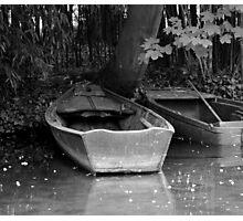 Monet's boats Photographic Print
