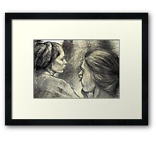 Tell Me...! Framed Print