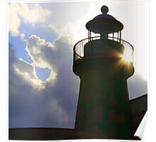 Solar powered lighthouse! Poster