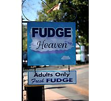 Adults Only Fudge Photographic Print